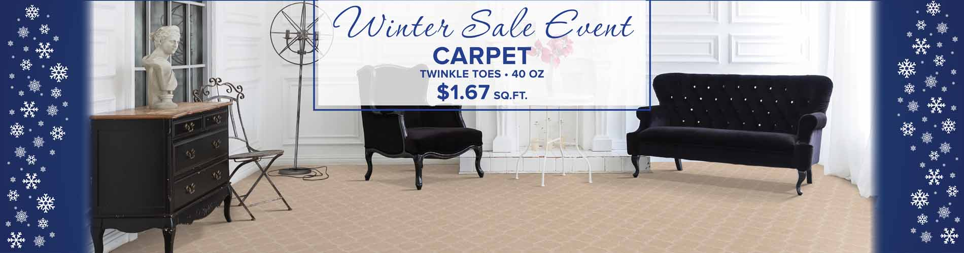 Twinkle Toes 40oz carpet on sale for just $1.67 sq.ft.