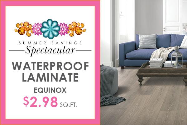 Equinox waterproof laminate flooring on sale $2.89 sq ft